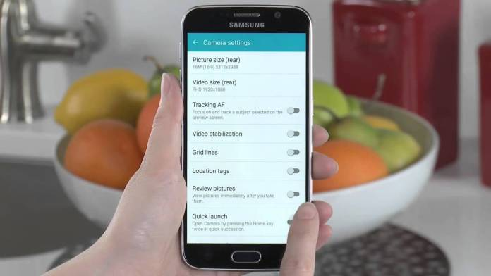 Disable Samsung Galaxy S6 camera quick launch feature