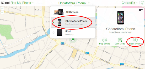 Erase using Find my iPhone: iPhone factory reset without password - How to reset iPhone without password
