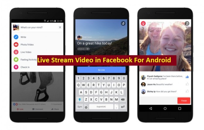 Live Stream Video in Facebook For Android