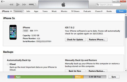 How to use itunes on iphone 5s