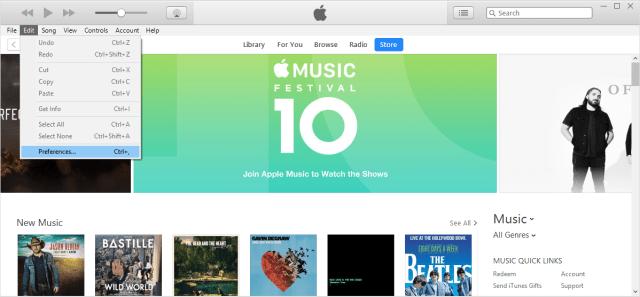 choose Edit > Preferences.. Turn off iCloud Music Library or Disable iCloud Music Library On Winodws PC: Disable iCloud Music Library Using iTunes
