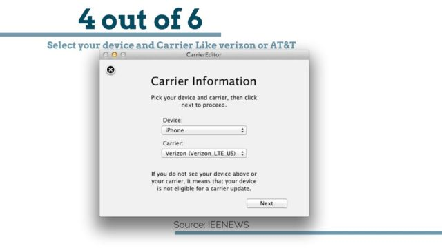 Select your device and Carrier Like verizon or AT&T: Change iPhone Carrier Logo: How to change carrier logo on iPhone without jailbreak