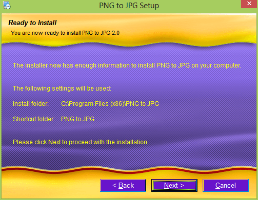 Just click next to install the PNG to JPG Image Format Coverter: Convert png to jpg without losing quality