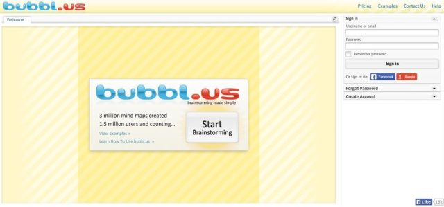 Bubbl.us: Web based Mind mapping