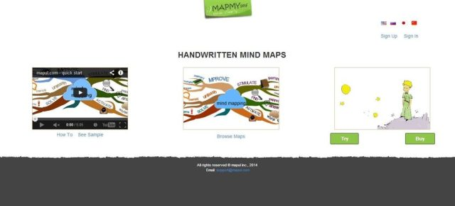 Mapul: Online mindmapping, Online application to create beautiful mind maps