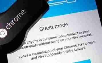 Setup chromecast guest mode