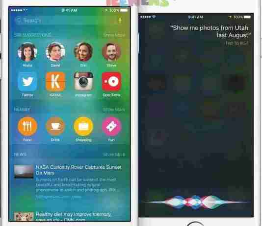 Apple iOS 9 - Siri gets smarter with context-sensitive feature or proactive assistant