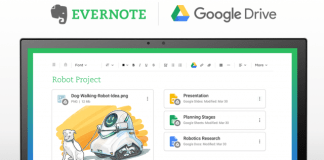 Add Google Drive files to Evernote