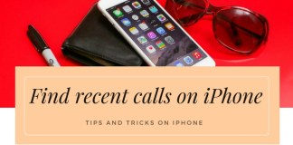 Find recent calls on iPhone: iPhone Call History Recovery