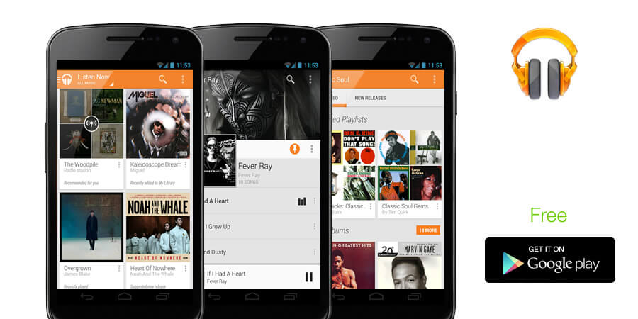 how to use google play music app