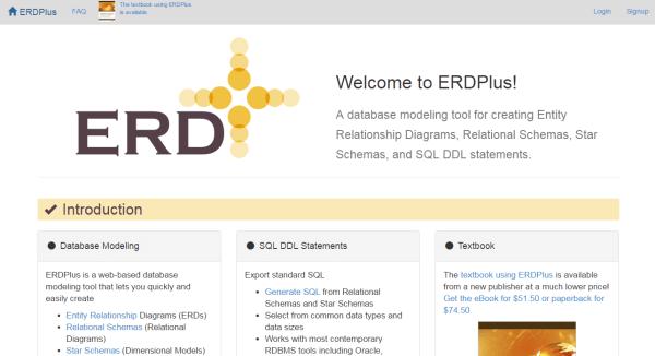 ERDPlus Entity relationship diagram tool