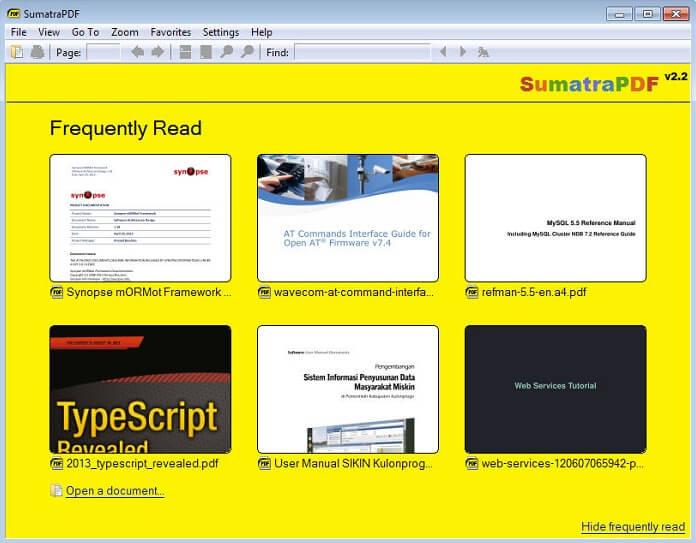 Sumatra PDF Adobe Reader Alternatives