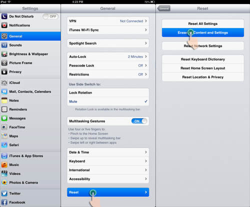 How To Restore iPad Mini To Factory Settings