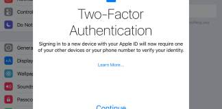 configure two-factor authentication for iOS