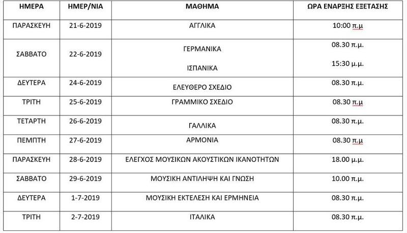 eidika-mathimata-programma-panellinies-16-4-2019_0 Πανελλήνιες εξετάσεις 2019: Το πλήρες πρόγραμμα