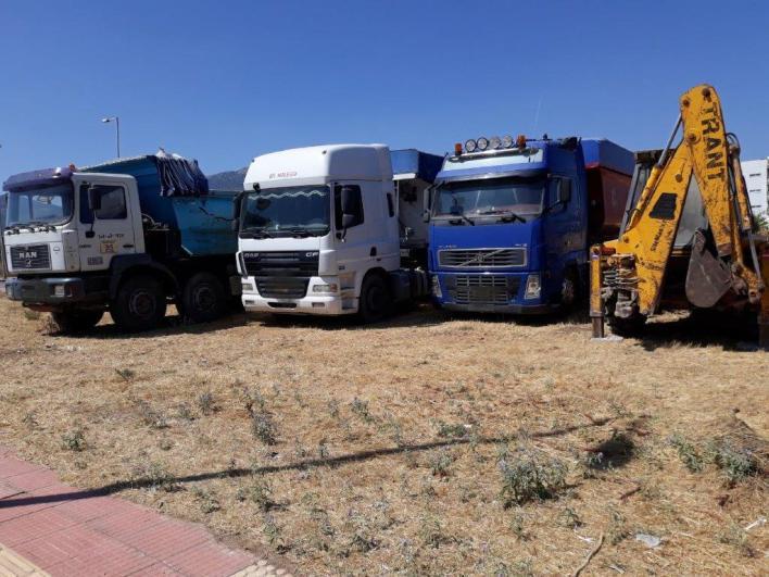 Τα φορτηγά που κατάσχεσε η Ελληνική Αστυνομία