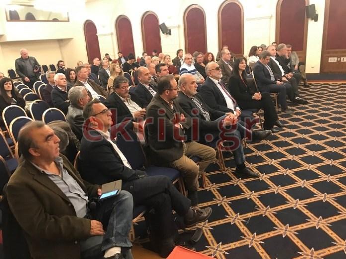 Η αίθουσα της ομιλίας στο Ηράκλειο Κρήτης