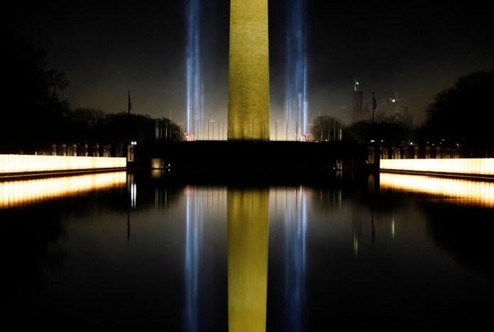 Φώτα στο Memorial Mall