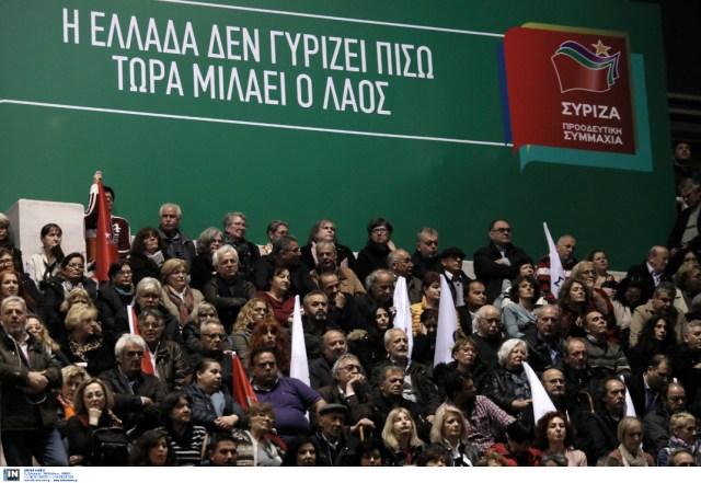 Εντονο το πράσινο χρώμα στην εκδήλωση του ΣΥΡΙΖΑ στο Γαλάτσι