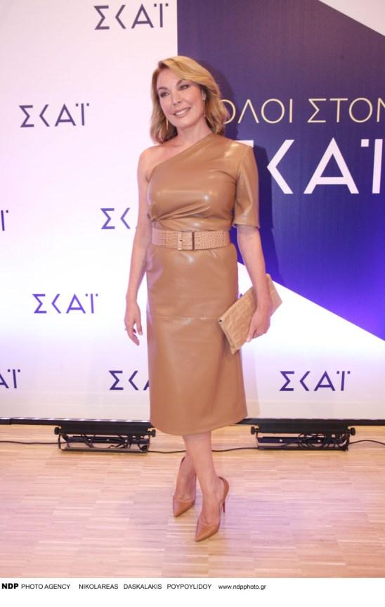 Η Τατιάνα Στεφανίδου με ταμπά φόρεμα