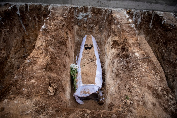 Τάφος θύματος κορωνοϊού