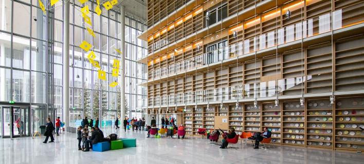 Αποτέλεσμα εικόνας για εθνική βιβλιοθήκη στο κέντρο πολιτισμού
