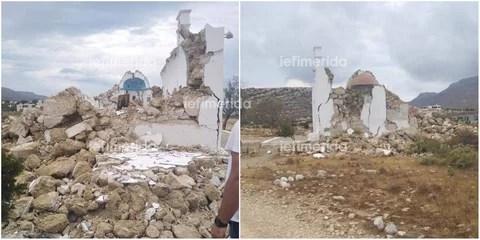 Σεισμός 6,3 Ρίχτερ στην Κρήτη: Κατέρρευσε το εκκλησάκι του Αγίου Νικολάου