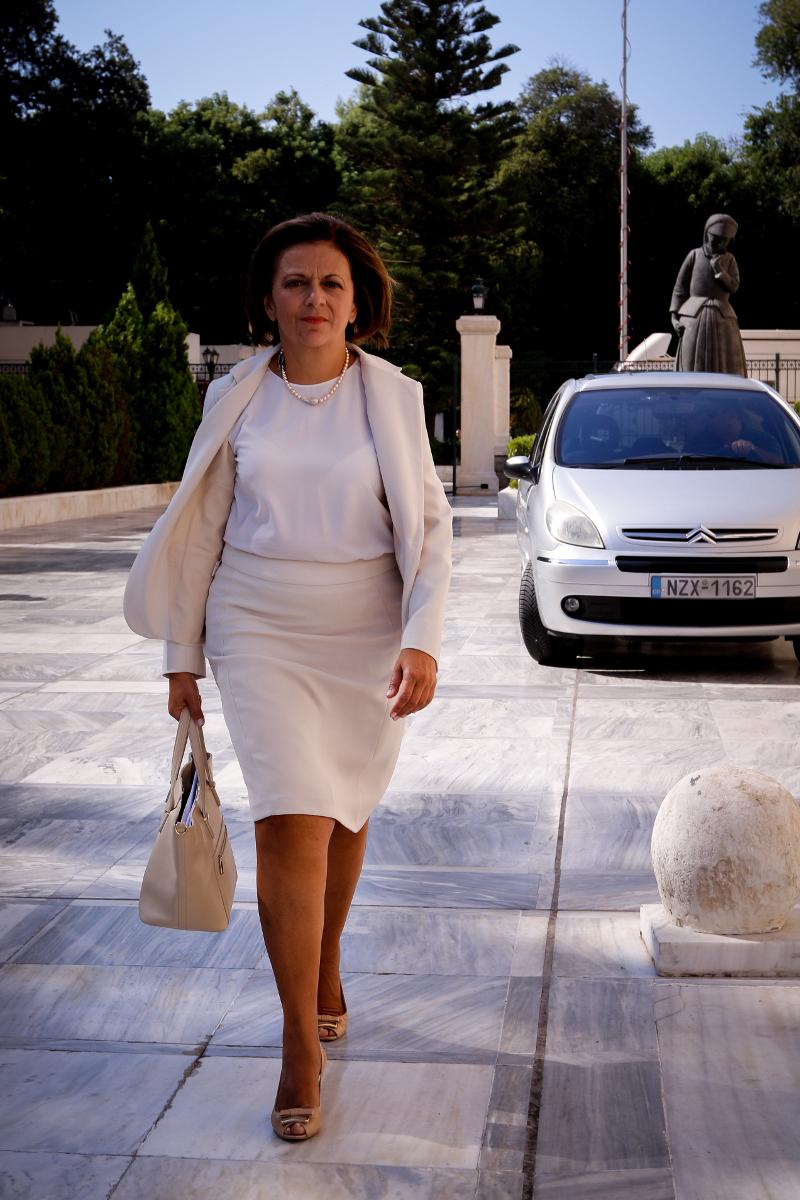 Η νέα υφυπουργός Εσωτερικών Μαρίνα Χρυσοβελώνη- φωτογραφία eurokinissi
