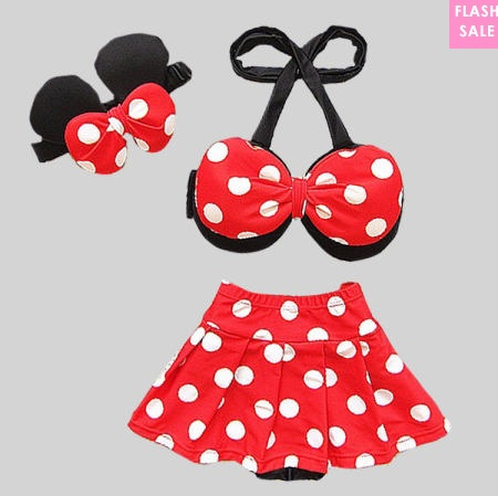 swimming suit for children polka dots minnie mouse