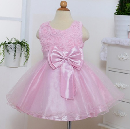 toddler tutu dress rose pattern pink