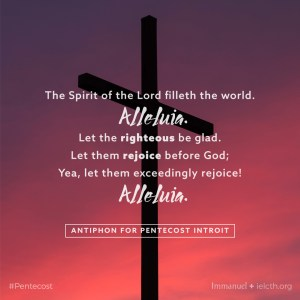 Antiphon for Pentecost Introit