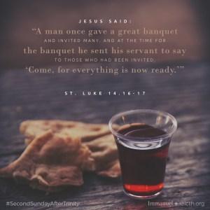 St. Luke 14.16-17