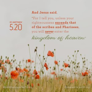 St. Matthew 5.20