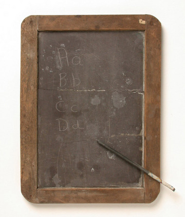Victorian School Slate and Pencil
