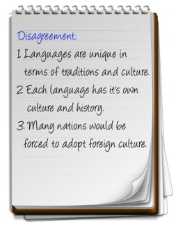 Each language has own culture