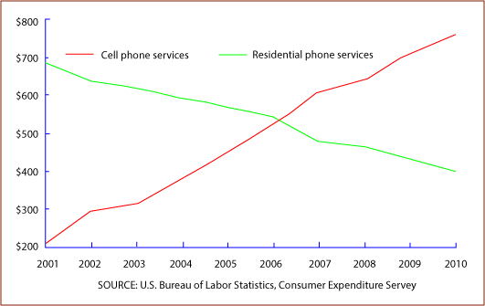 annual expenditures on cell phone