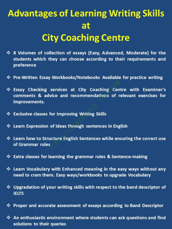 IELTS Writing Classes at City Coaching Centre