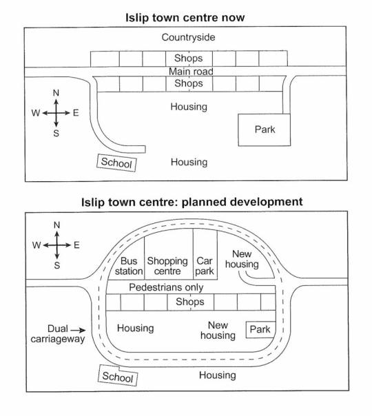IELTS acdemic writing task 1 report small town called Islip