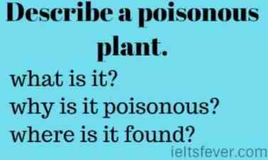 Describe a poisonous plant.