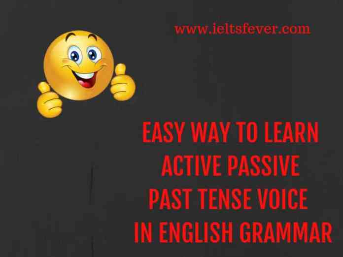 easy way to learn active passive Past Tense voice in English grammar