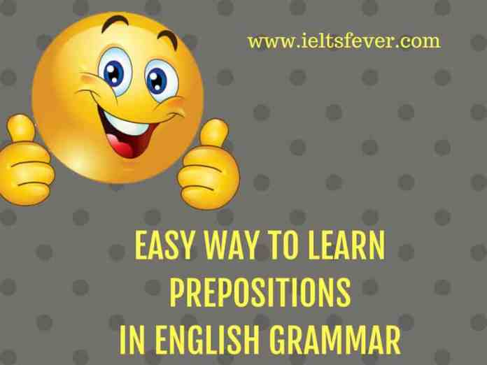 EASY WAY TO LEARN PREPOSITIONS IN ENGLISH GRAMMAR