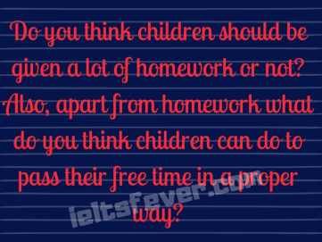 Do you think children should be given a lot of homework or not?