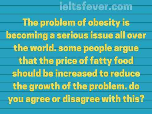 The problem of obesity is becoming a serious issue all over the world