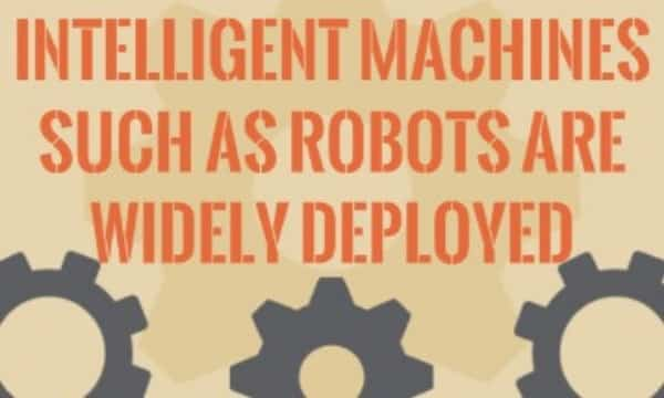Intelligent machines such as robots are widely deployed to take place of human beings. discuss the advantages and disadvantages of it.