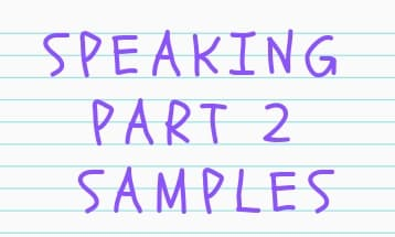 speaking part 2 samples 3