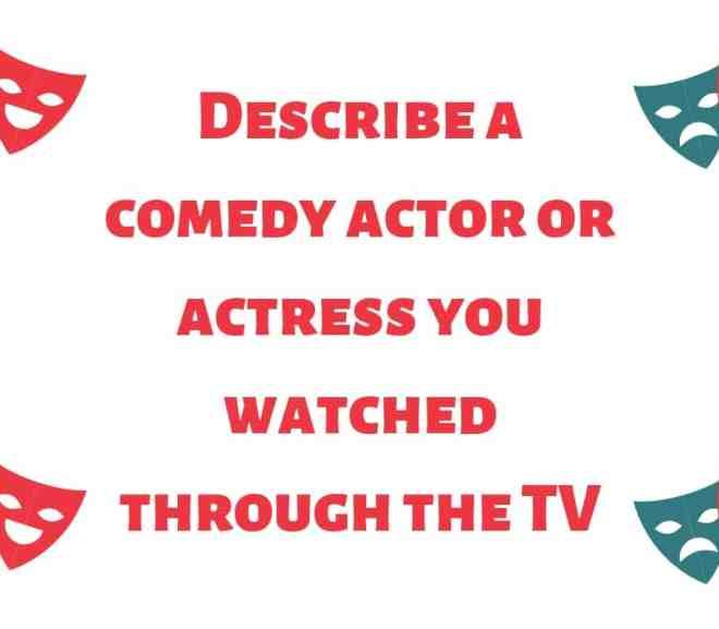 Describe a comedy actor or actress you watched through the TV