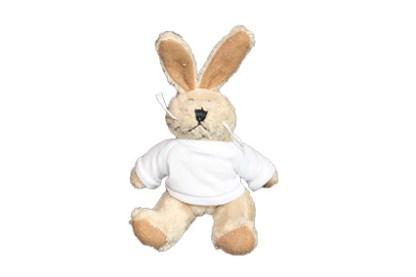 Knuffel sleutelhanger konijn met shirt