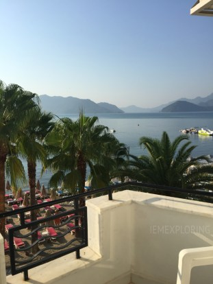 Turkey. Marmaris Beach front hotel view
