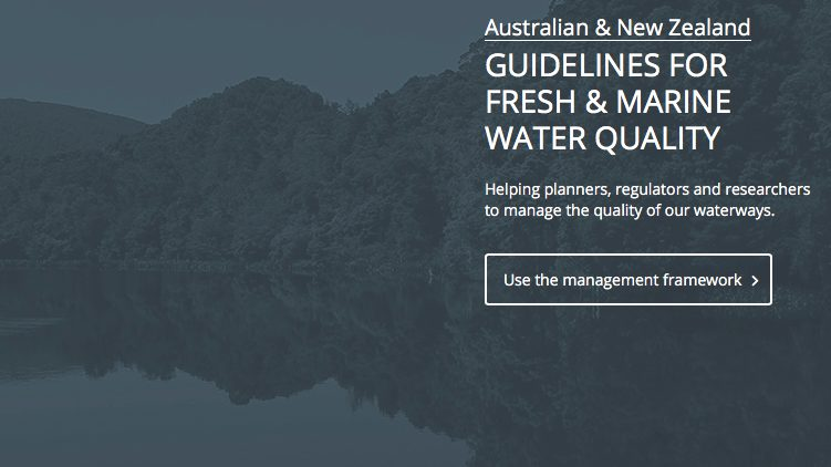 Guidelines for Water Quality, ANZG 2018
