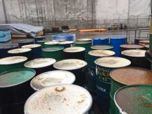 Non-compliant Chemical and Waste Storage